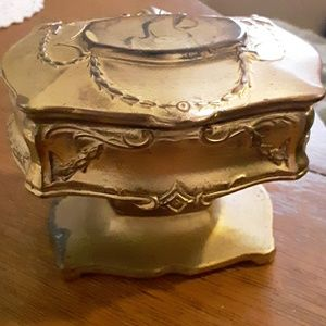 Antique Jewelry Gilted Casket